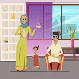 Arabic Family Background Stock Images