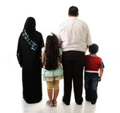 Arabic family, four members Royalty Free Stock Photo
