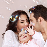 Arabic family portrait Stock Photos