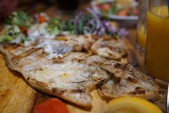 Arabic Fatayer, Middle Eastern food stock photography