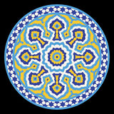 Arabic Floral Circle Ornament Stock Photography