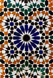 Arabic floral marble mosaic tile texture Royalty Free Stock Photography