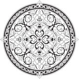 Arabic floral pattern motif. Based on Ottoman ornament Royalty Free Stock Images