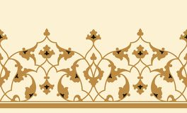 Free Arabic Floral Seamless Border. Traditional Islamic Design. Stock Images - 115054194