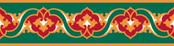 Arabic floral seamless border. Traditional islamic design. Mosque decoration element stock illustration