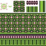 Arabic flower leaf vintage seamless pattern Stock Photos