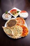 Arabic food Manaqish Stock Images