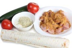 Arabic food on white Stock Photos