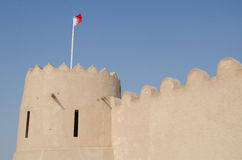 Arabic fort. Tower of Riffa fort in Bahrain Royalty Free Stock Images