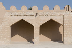 Arabic fort details. Details of Rifa fort in Bahrain Royalty Free Stock Photography