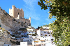 Arabic fortress in Alcala del Jucar, Spain Stock Photos