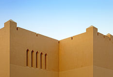 Arabic fortress wall Royalty Free Stock Image