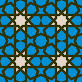 Arabic geometric pattern with stars. Abstract geometric seamless pattern with stars in arabic style Stock Photography