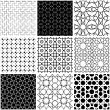Arabic geometric style in black and white. Arabic geometric style abstract patterns in black and white Stock Illustration