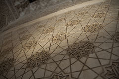 Arabic geometrical decoration on a wall. Closeup view Royalty Free Stock Photography