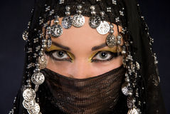 Arabic girl. Portret of beautiful arabic girl Royalty Free Stock Photos