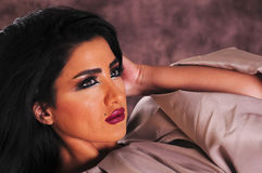 Arabic Girl. Razan Nehade is an beautiful arabic Girl in a photo session Royalty Free Stock Photo