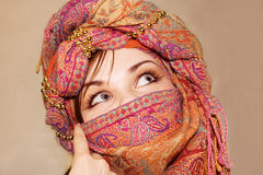 Arabic girl with expressive eyes Stock Image