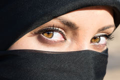 Arabic Girls Eyes, with Hijab. Stock Photography