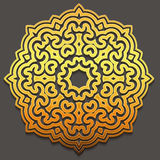 Arabic gold geometric pattern for festive design of the holiday of Ramadan or other oriental style art Stock Photos