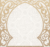 Arabic greeting vector background. Arch Muslim mosque Royalty Free Stock Photo