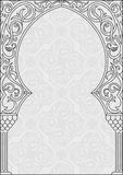 Arabic greeting vector background. Arch Muslim mosque Royalty Free Stock Image