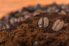 Arabic ground roasting coffee and coffee beans Stock Photography