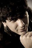 Arabic guy. Arabian guy retro style portrait Stock Photos