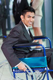 Arabic handicapped businessman Stock Photos