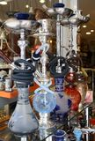 Arabic hookahs stock images