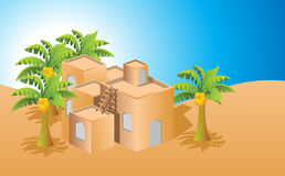 Arabic house. On summer day Royalty Free Stock Photography