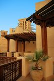 Arabic house. An arabic style architecture with wind towers Royalty Free Stock Photography