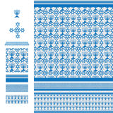 Arabic idea Hannukah freedom line blue seamless pattern Stock Image