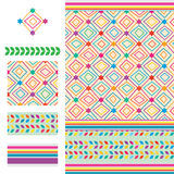 Arabic idea six star coloful modern seamless pattern Stock Images