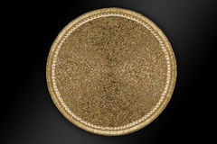 Arabic and Indian round Gold Hand Beaded and Handmade Placemats stock image