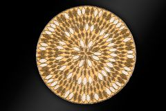 Arabic And Indian Round Gold Hand Beaded And Handmade Placemats royalty free stock photo