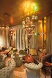 Arabic interior. Arabic coffee shop with luxury interior Royalty Free Stock Photos