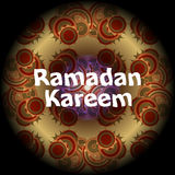 Arabic Islamic calligraphy of text Ramadan Kareem on abstract background Royalty Free Stock Image