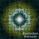 Arabic Islamic calligraphy of text Ramadan Kareem on abstract background Stock Photos