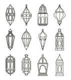 Arabic or Islamic lanterns set Stock Photography