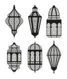 Arabic or Islamic lanterns set Royalty Free Stock Images