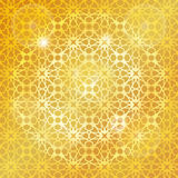 Arabic islamic pattern,gold background.Geometrical Royalty Free Stock Image