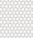 Arabic islamic  seamless pattern. In round style with six-pointed stars Royalty Free Stock Images