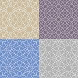 Arabic islamic seamless pattern set.Geometrical,linear Stock Photography