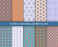 Arabic islamic seamless pattern set. Vector eps10 Stock Image