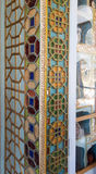 Arabic and islamic style mosque mosaic and pattern geometric Royalty Free Stock Images