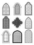 Arabic or Islamic traditional architecture, set of window Royalty Free Stock Image