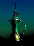 Arabic jar. Traditional arabic jar in special lighting stock images