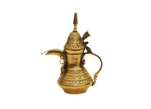 Arabic jar. Old arabic jar made of brass Royalty Free Stock Images