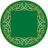 Arabic label. Vector label with orient ornament Royalty Free Stock Image